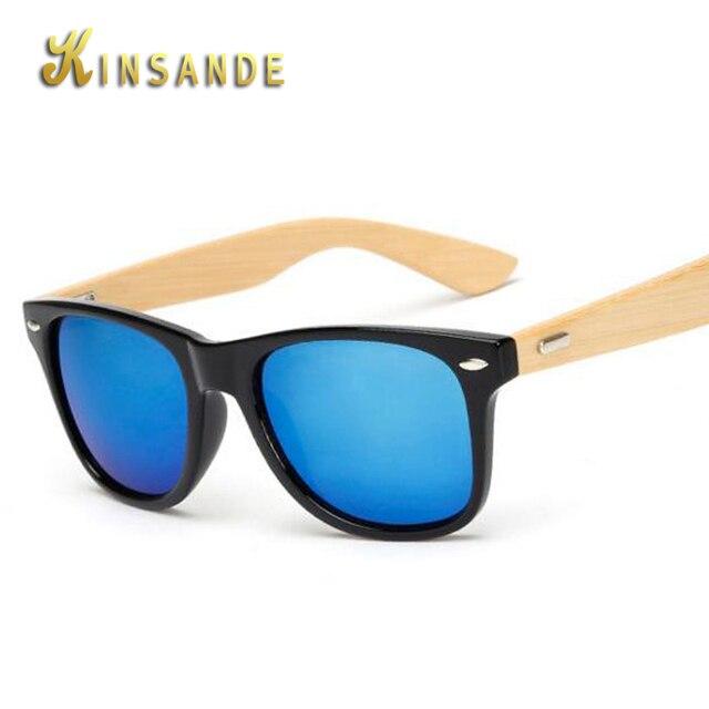 36ff77fd327cf KINSANDE 2017 Novos Óculos De Sol Dos Homens de Bambu de Madeira De Madeira  óculos de