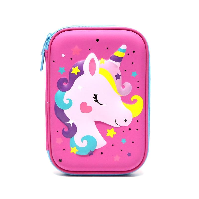JUGAL EVA Pen Bag Unicorn Pencil Case Cartoon Large Mermaid Pencil Box Cartucheras Para Lapices Escolares Kids Stationary Gifts