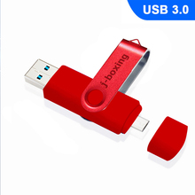 J-boxing USB 3.0 OTG Flash Drive 64GB 32GB 16GB otg High Speed Memory Stick for SmartPhone/Tablet/PC/Mac/Laptop Pendrive Red