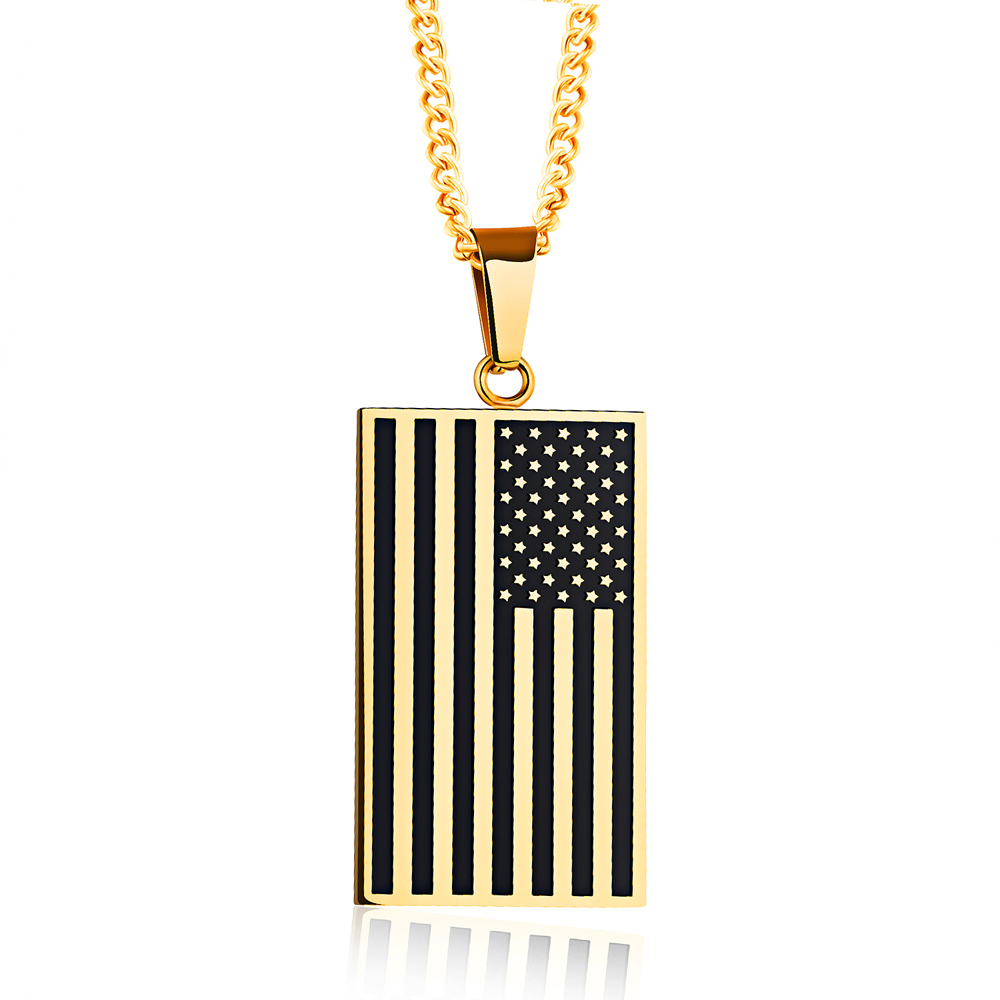 flag silver tags and steel s gold stainless dog dp usa necklace tag pendant hzman men american
