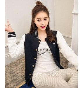 Image 4 - סתיו בייסבול מפציץ מעיל נשים מעיל רוח סווטשירט Harajuku Streetwear מעיל Casaco Feminino chaqueta mujer jaqueta