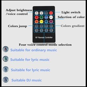 Image 4 - For Peugeot 5008 3008 Mitsubishi Outlander ASX Car LED Strip Light Cigarette Colorful Decorative Lamp Interior Light With Remote
