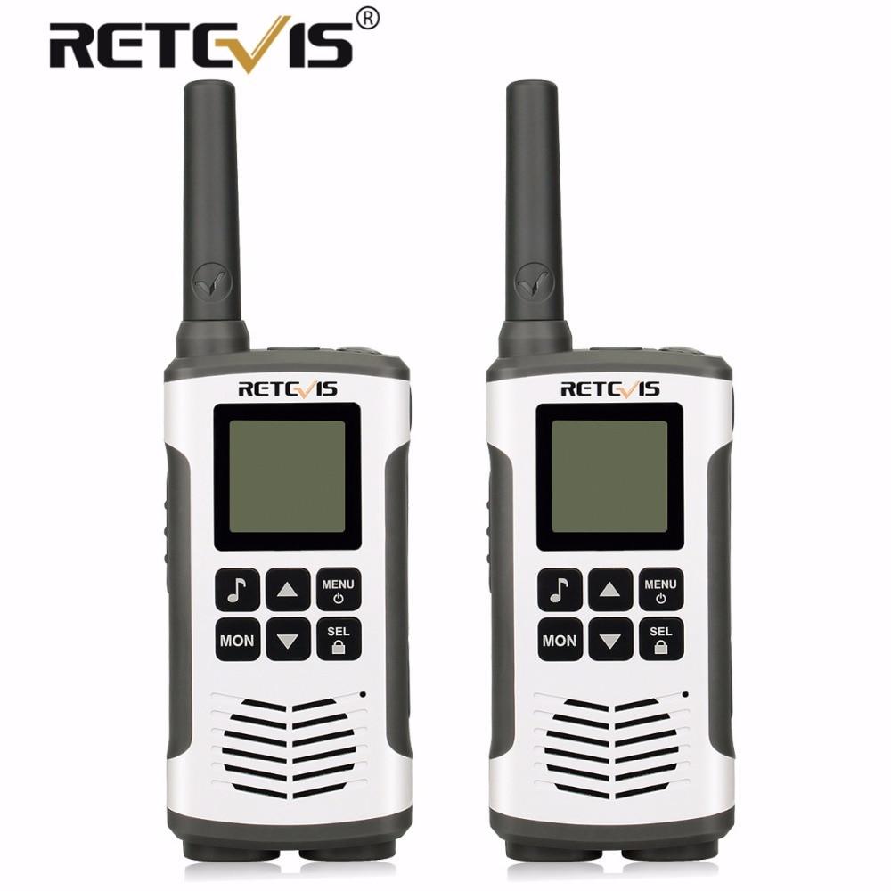 2 pcs Retevis RT45 Portable Talkie Walkie PMR446 PMR/FRS Licence-livraison 2 Way Radio Hf Émetteur-Récepteur UHF VOX et Rechargeable Batterie