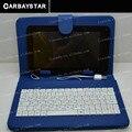 Carbaystar Caliente Al Por Mayor de 7 pulgadas tablet funda de cuero del teclado, teclado de rusia, y ocho idiomas, puede ser modificado para requisitos particulares