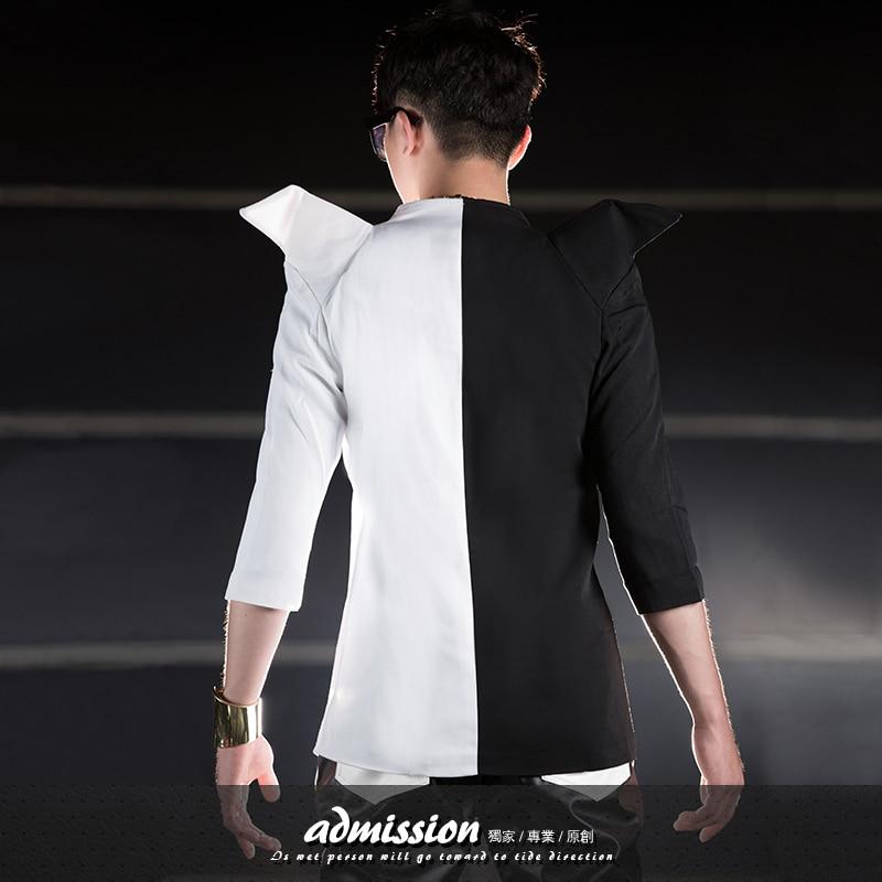 Vêtements Dj Bigbang S Chanteur Couture Plus Blouse Costume La L'hôte Costumes 5xl Mince Taille Hommes Exagéré Parti Nouveau Noir Mode 2019 De ybI6gv7Yf