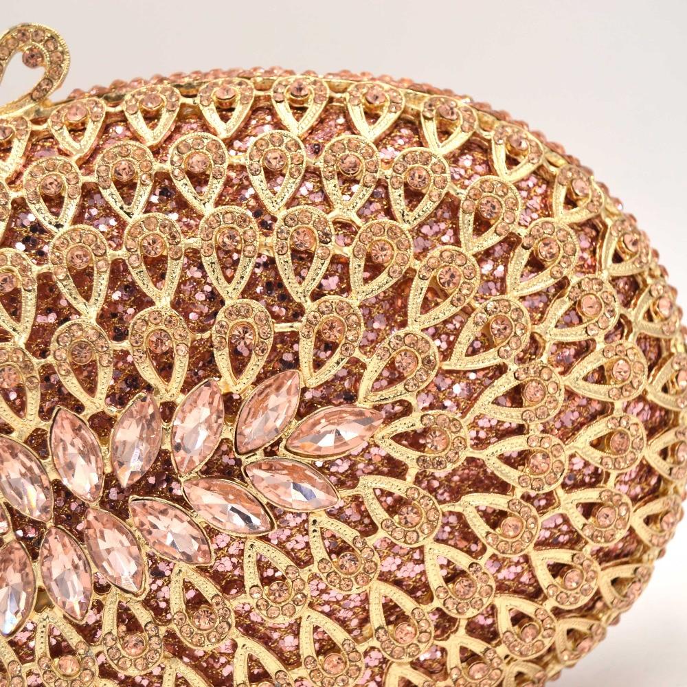 Rose Mariage Silver En champagne D'embrayage Dames Sac Ovale Argent Bourse Or gold Champagne Mode Des Soirée Blue Parti Sc588 De gold Artisanat Luxe Cristal silver Femmes Sx6gnpw