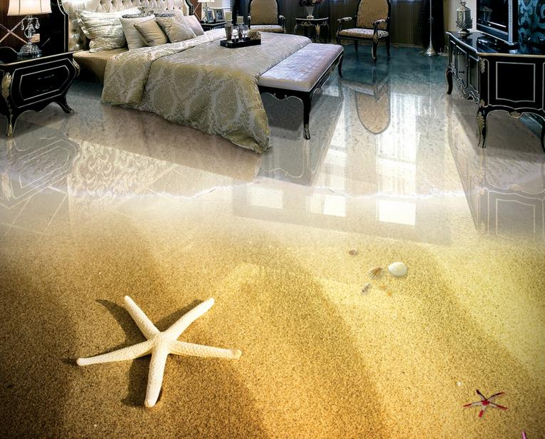 3d flooring pvc waterproof Custom Beach photo wallpaper for Living room bedroom bathroom 3d floor mural wall paper rolls shinehome black white cartoon car frames photo wallpaper 3d for kids room roll livingroom background murals rolls wall paper