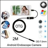 Hazy beauty 7MM 2M USB Endoscope Android Camera Snake Tube Pipe Waterproof Phone PC Endoskop Inspection Borescope Mini Camera
