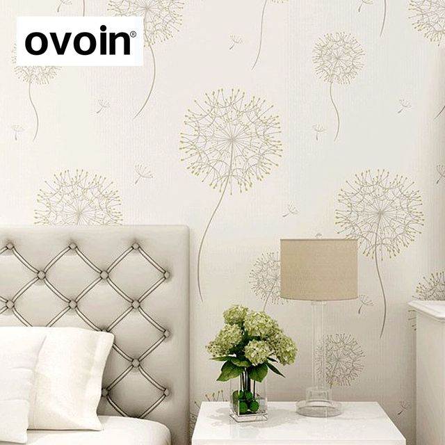 Bedroom Romantic Design Floral Wall Paper Natural Country Warm Color Dandelion Wallpaper For Walls Background