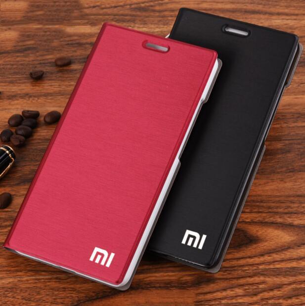 "Xiaomi mi4 Case Cover M4 MI 4 Luxury Slim Flip PU Leather Case Original size 5.0"" For Xiaomi Mi4 M4 Cover Bag screen protector-in Flip Cases from Cellphones & Telecommunications"