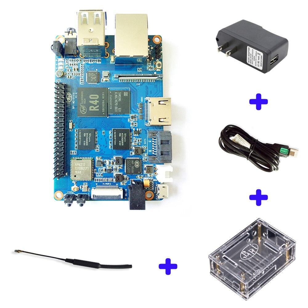 BPI M2 Ultra R40 Quad-Core 2GB DDR3 RAM With SATA WiFi Bluetooth 8GB EMMC Demo Board Single Board Computer