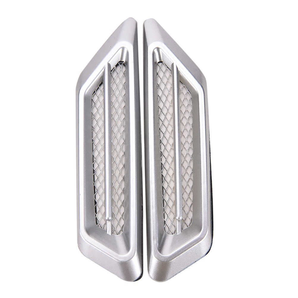 2 шт. модные автомобильные аксессуары 17 см x 4 см Универсальная автомобильная воздухозаборная вентиляционная отверстие буферная декорация наклейки