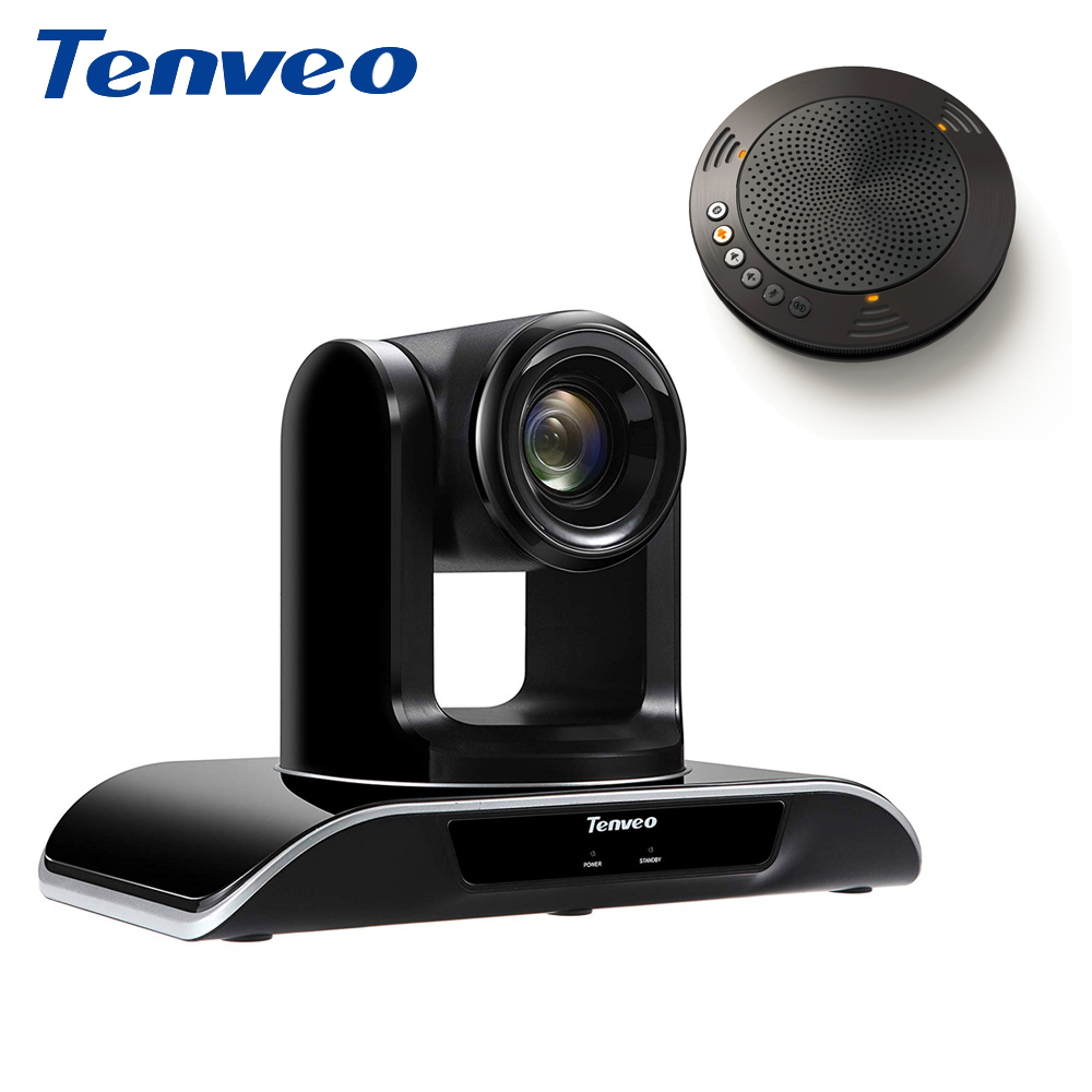 With Speakerphone Tenveo Auto Focus Broadcast 3x Zoom USB Output Ptz Video Camera H.264 conference Camera 1080p HD Webcam