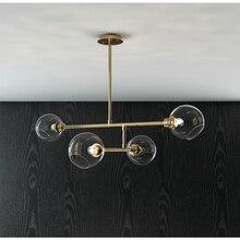 Post Modern Bedroom E27 LED Molecular Chandelier Nordic Decorative Lighting Glass Ball Living Room Hanglamp Dining Room Lights недорого
