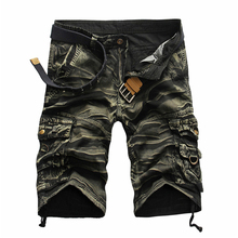 Cargo Shorts Brand Fashion Mens Bermuda Short Men Homme Casual Beach Summer Beachwear Military Camouflage