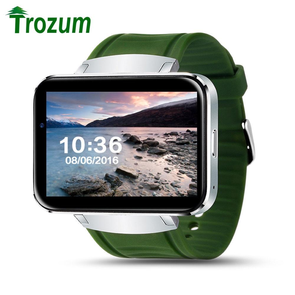 TROZUM WiFi GPS DM98 Smart Watch With GSM/WCDMA 2G/3G SIM Card Slot Camera Bluetooth Speaker Earphone Android 5.1 Phone LEM4 sony xperia s lt26i wcdma android 2 3 smart phone w 4 3 capacitive 12 mp camera and gps white