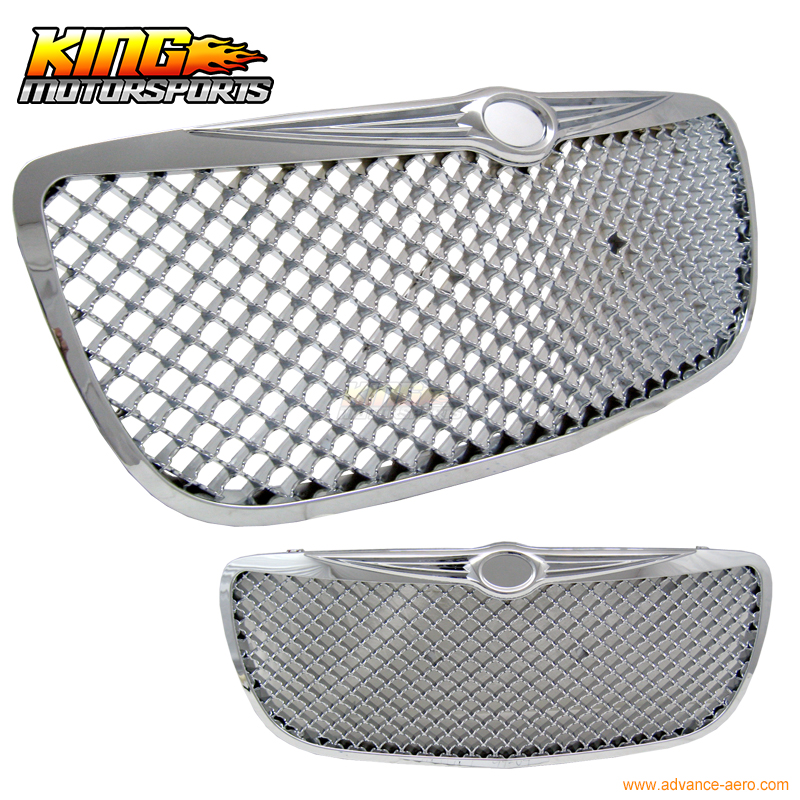 grille chrysler sebring - Fits 04-06 Chrysler Sebring Mesh Style Front Grill Grille Chrome ABS USA Domestic Free Shipping Hot Selling