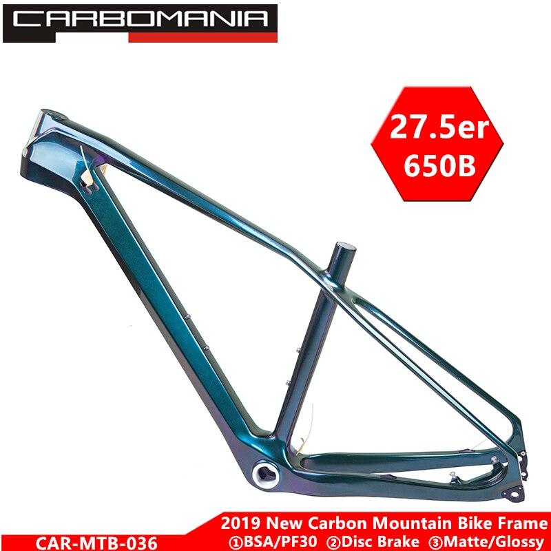 Plein carbone VTT cadre 27.5er vtt de carbone cadre de vélo 2019 pour bicicletas 650B cadre de vélo de nombreuses couleurs vtt vélos