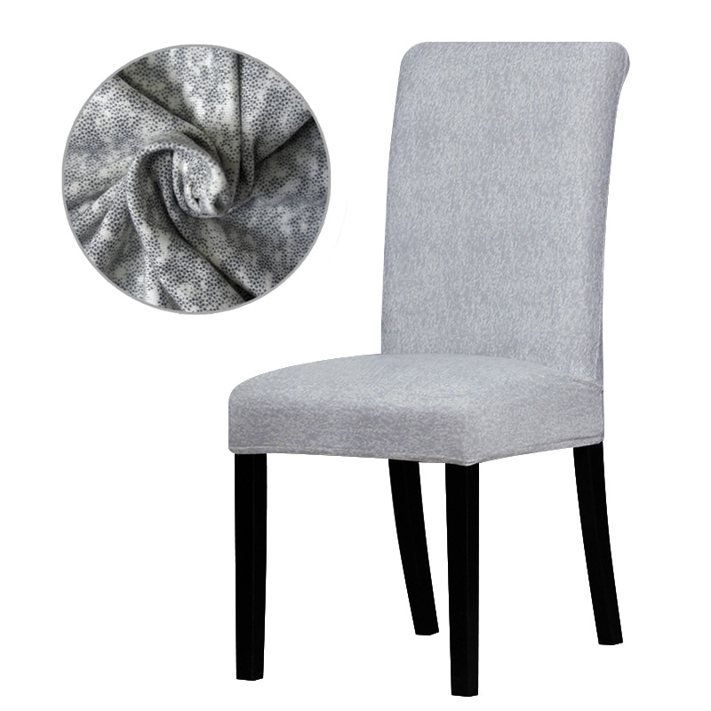 Spandex Grey color chair cover Slipcovers Stretch Removable Dining seat Chair Covers Hot ...