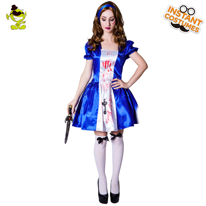 Purim Holiday Women's Zombie Costume Role Play Scary Lady's Zombie Dress Masquerade Halloween Zombie