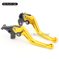 For HONDA XL 1000V Varadero 1999-2011 Gold Motorcycle Adjustable Short Brake Clutch Lever CNC 3D Anti Slip Surface