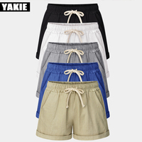 New 2017 Summer Candy Color Women Shorts Casual Style Ladies Shorts Hot Sale Plus Size Cotton