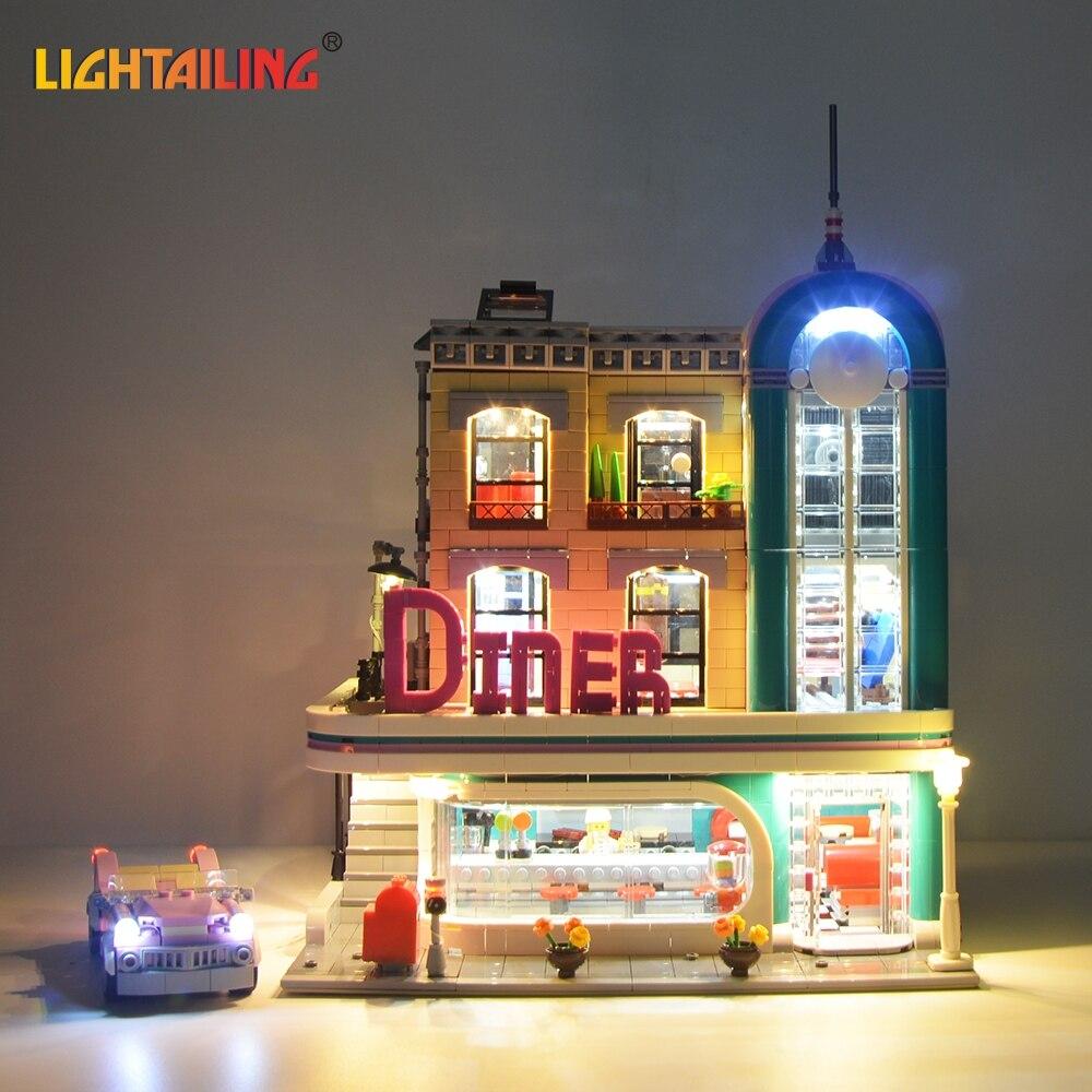 LIGHTAILING LED Lumière Kit Pour Cerator D'experts Center-Ville Diner Building Block Éclairage Ensemble Compatible Avec 10260 Et 15037