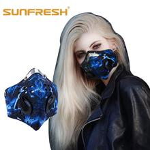 Fishion Dust mask riding breathing valve anti-fog PM2.5 industrial dust sports protective mask Anti-pollution half face cover industrial water pollution
