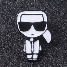 New Fashion Karl Cartoon Portrait Brooch Pins Cool Men And On Backpack Lapel Souvenir Jewelry