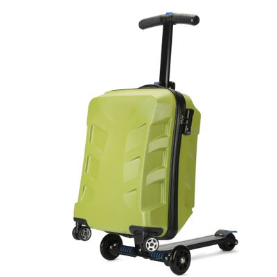 288ec2ecec60 US $150.5 30% OFF New Designe 21inch TSA Lock Scooter Luggage Aluminum  Suitcase With Wheels Skateboard Rolling Luggage Travel Trolley Case-in  Rolling ...
