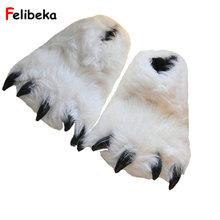 Fashion winter warm Indoor Cotton Padded Plush Cartoon Bear Claw Slippers Home Cotton Slippers Floor Shoes