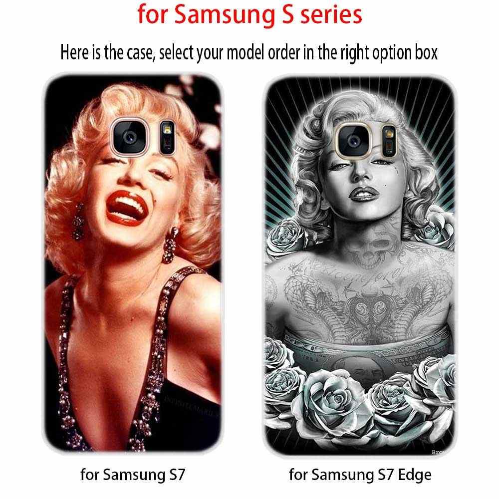 Сексуальная Мэрилин Монро Мягкий ТПУ силиконовый чехол для телефона чехол для samsung Galaxy S6 S7 Edge S8 S9 S10 S11 Plus E Note 8 9 10Plus