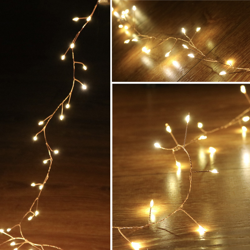 33ft 300LED Cluster String Lights Branch Tree Outdoor Copper Wire Fairy Lights For Cafe Bar Wedding Party Xmas Home Decoration