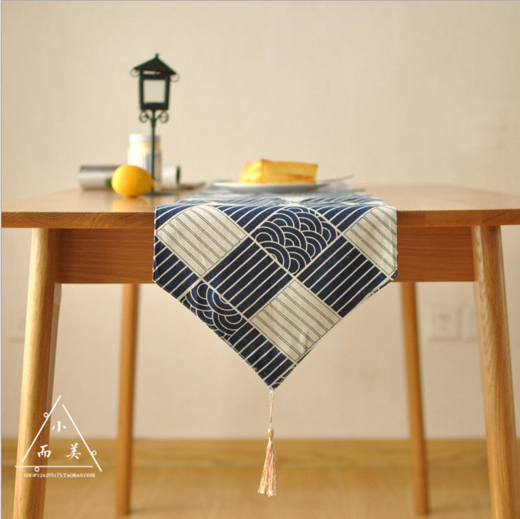 Japanese New Classical Traditional Cotton And Linen Tea Table Cloth Zen  Linen Table Runner Japanese Tea Mat