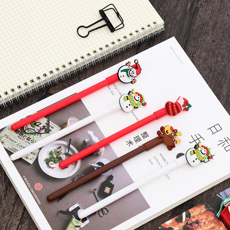 Creative Christmas Pens 0.38mm Black Gel Pens 1