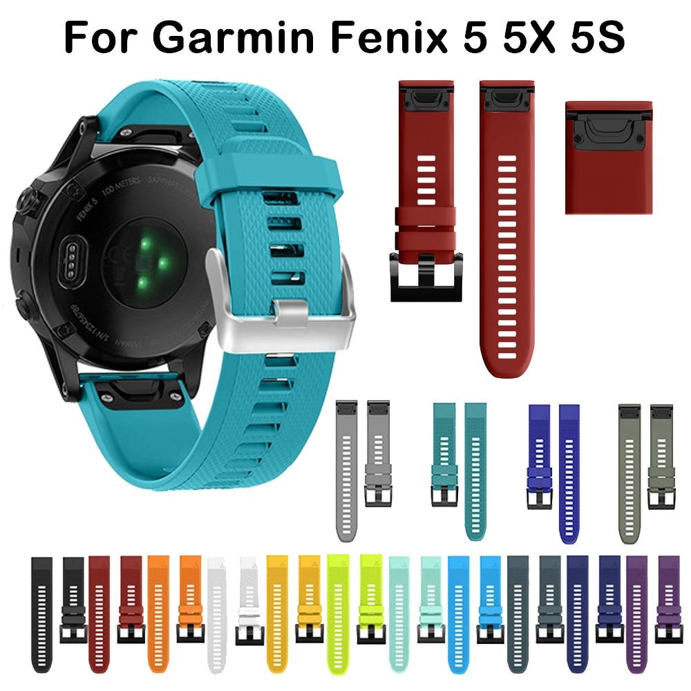 26 22 20MM Watchband For Garmin Fenix 6X Pro 6 6S 5 5X 5X Plus 5S 3 3 HR   Watch Quick Release Silicone Easyfit Wrist Band Strap