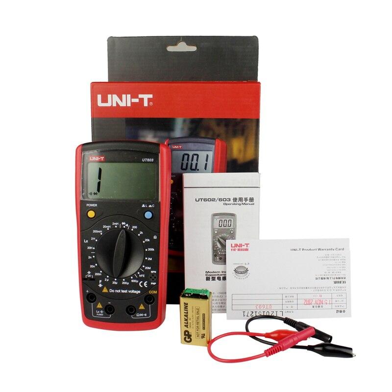 UNI-T UT603 résistance moderne Inductance condensateurs testeurs LCR mètre condensateurs ohmmètre w/hFE Test
