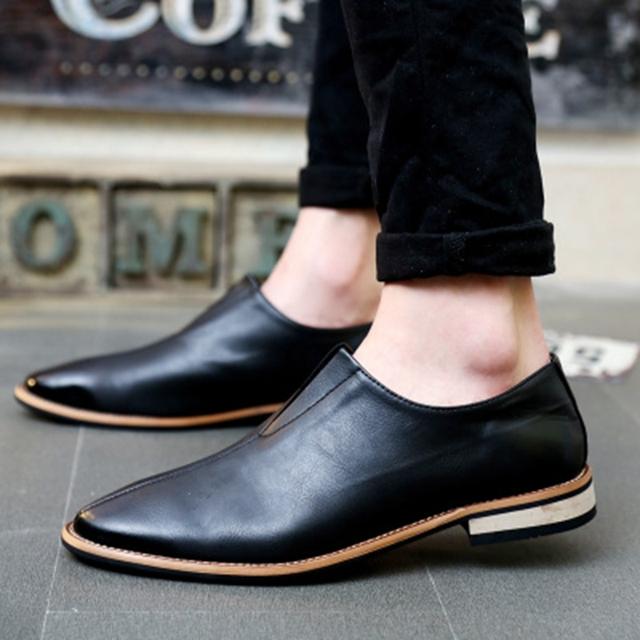 2016 Primavera Otoño de Los Holgazanes de Los Hombres de Oxford Zapatos Planos de la marca de fábrica Superior de Los Hombres Mocasines Zapatos de Los Hombres Zapatos De Cuero Casual zapatos hombre EPP046