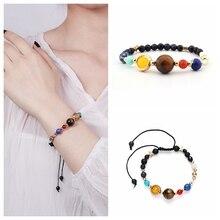 Natural Stone Bracelet for Women Men Tiger Eye Amythests Turquois Agat Beaded Yoga Stretch Bracelets Bangles