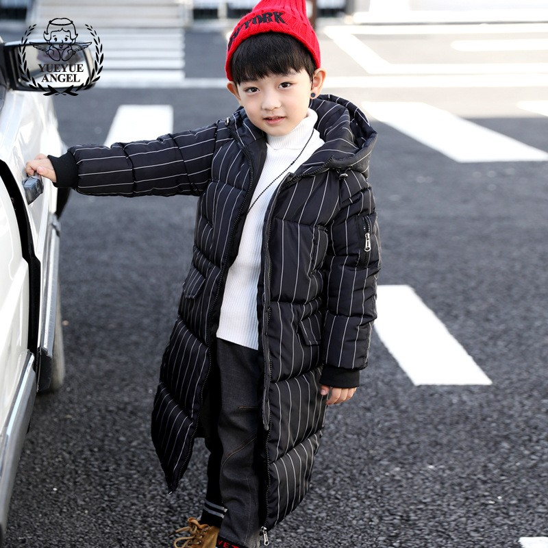 7-13 Year Old Boy Overcoat Thicken X-Long Boys Winter Coat Overalls Winter For Children Hooded parkas coats boys Cotton Jacket цена