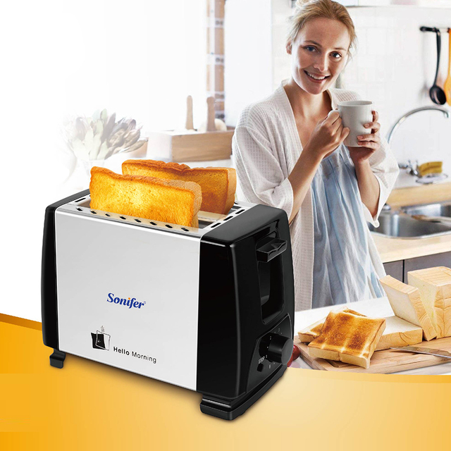 Stainless Steel Toaster with Mechanical Timer