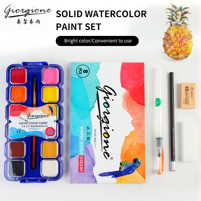 BGLN 12/21/24Colors Powder Solid Watercolor Painting Set Bright Color Portable Watercolor Pigment Powder For School Art Supplie mungyo stationery set 12 24 48 color art solid watercolor painting pigment write iron box packaging