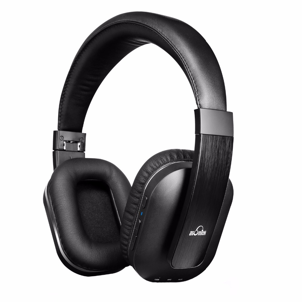 iDeaUSA S204 Foldable Over ear Wireless Bluetooth Headphone with Mic Apt-x Noise Isolation Earphone for TV / Phone / Tablet / PC archeer ah07 bluetooth foldable headphone wireless stereo headphone with mic soft ear cups adjustable headset 100