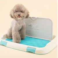 Lekexi S Indoor Dog Potty Take Wall Grid Lattice Toilet urinal Restroom Pee Mat Dry Pad Loo Holder Pet Litter Tray