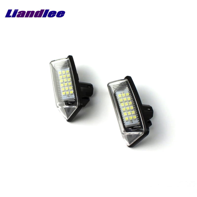 Liandlee LED Car License Plate Light / Number Frame Lamp For Toyota Crown 2005~2015 / High Quality LED Lights 2x car led license plate lights 12v smd3528 led number plate lamp bulb kit for toyota crown s180 corolla vios previa accessories