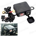 Waterproof Motorcycle 12V GPS MP3 USB Power Socket Charger With Switch For Harley Honda Yamaha Suzuki Kawasaki BMW