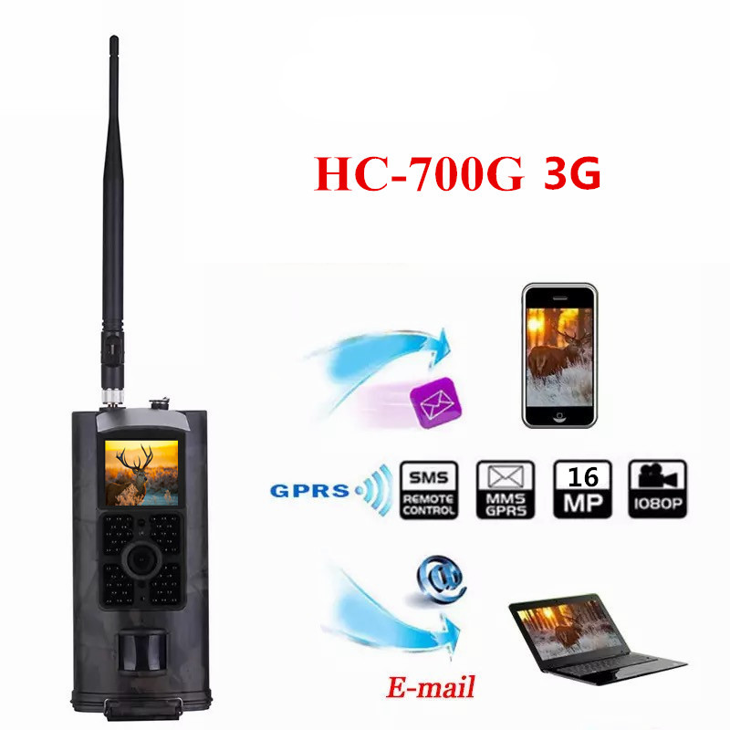 Suntek 16MP 1080P Hunting Trail Camera 3G Network MMS SMTP SMS Wide Angle Wildlife Camera HC700G