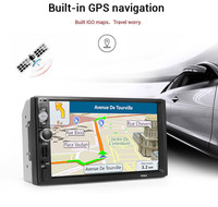 2 Din 7 Inch Car Radio GPS Navigation Player Camera Autoradio Bluetooth AUX MP3 MP5 Stereo