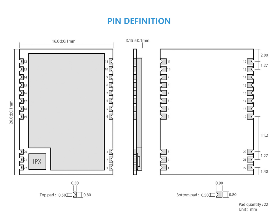 E22-230T22S SX1262 IPEX 230mhz rf module (2)