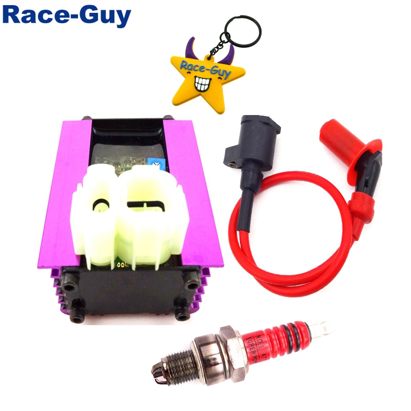 GY6 Racing AC CDI 3 Electrode Ignition Spark Plug For 50cc 125cc 150cc Scooter